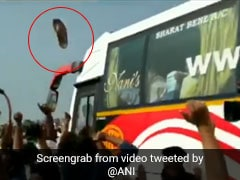 On Video, Slipper Thrown At Chandrababu Naidu's Convoy During Amaravati Visit