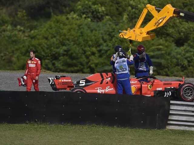 Ferrari Summons Sebastian Vettel, Charles Leclerc After Collision In Brazilian GP