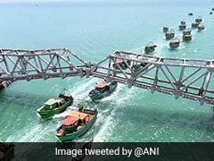 Construction For Pamban Rail Bridge Connecting Tamil Nadu Begins