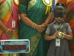 Chennai Girl, 6, Solves Rubik's Cube With Blindfold On
