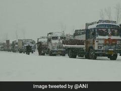 Roads Shut, Flights Suspended After Snowfall In Kashmir