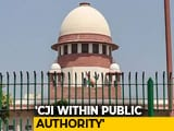 Video : Chief Justice Of India's Office Comes Under RTI Act, Says Supreme Court