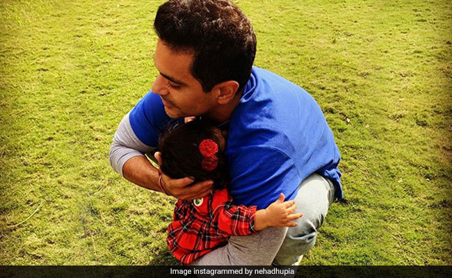 Neha Dhupia Posts Adorable Pic Of Angad Bedi With Daughter Mehr: 'So Much To Be Grateful For'