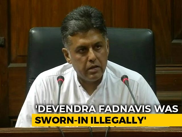 "Video : ""Did President Apply His Mind?"" Congress's Manish Tewari On Maharashtra"