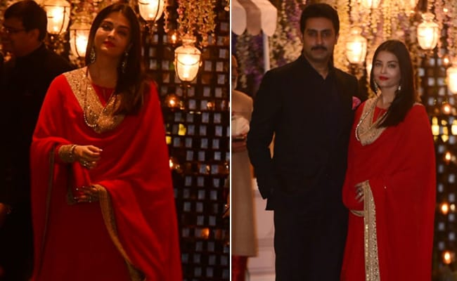 Aishwarya Rai In Red And Gold Is A Wedding Season Dream