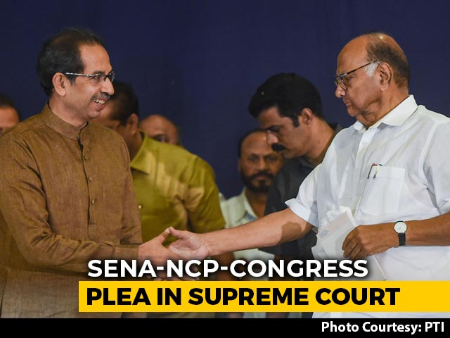 Video : Shiv Sena, NCP, Congress Petition On Maharashtra In Supreme Court Today