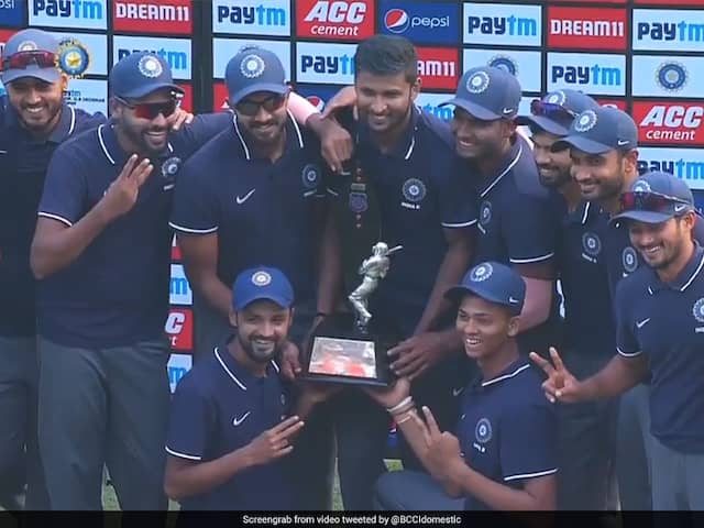 Kedar Jadhav, Shahbaz Nadeem Star As India B Beat India C To Win Deodhar Trophy
