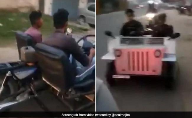 पंजाब में शख्स ने बाइक को बना दिया कार, लोग बोले- 'इसे कहते हैं देसी जुगाड़' देखें VIDEO