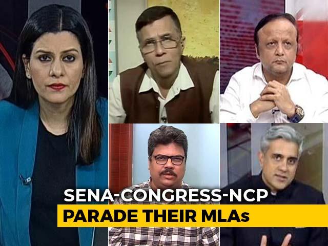 Video : The Maharashtra MLAs Parade: Alliance's Show Of Strength
