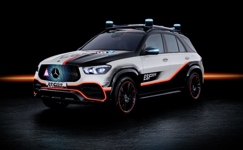 The Mercedes-Benz Experimental Safety Vehicle is based on the Mercedes-Benz GLE SUV