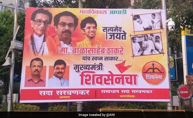 Bal Thackeray-Indira Gandhi Posters In Mumbai As Sena, Congress Ally