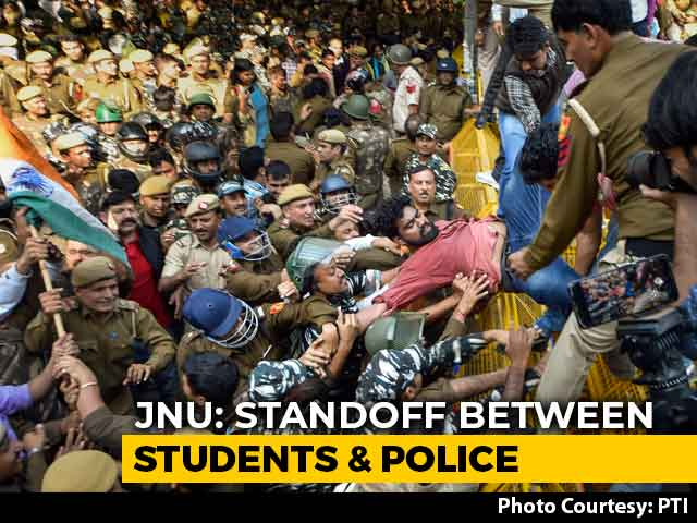 Video : After Day-Long Protest, JNU Students' Union To Meet Centre's Official