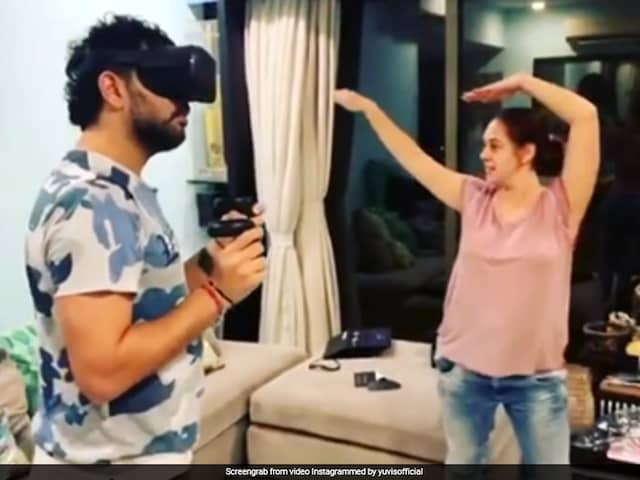 Hazel Keech Hilariously Mimics Yuvraj Singhs Virtual Reality Gaming Session Moves. Watch