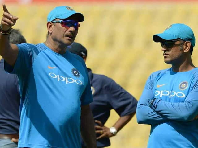"""Rather Than Speculating, Wait Till IPL"": Ravi Shastri On MS Dhonis Future"