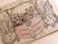 World's First Christmas Card Goes On Display