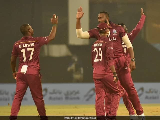 Afghanistan vs West Indies: West Indies Players Wear Masks In 2nd ODI In Lucknow