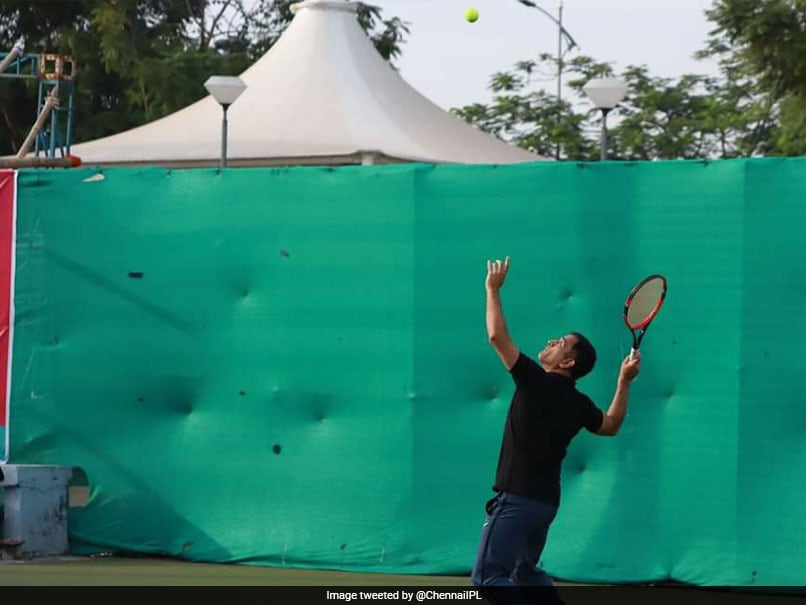 MS Dhoni Wows Twitter As He Swaps Cricket Bat For Tennis Racquet. Watch