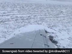 Watch: Plane Slides Off Chicago Runway Amid Icy Conditions