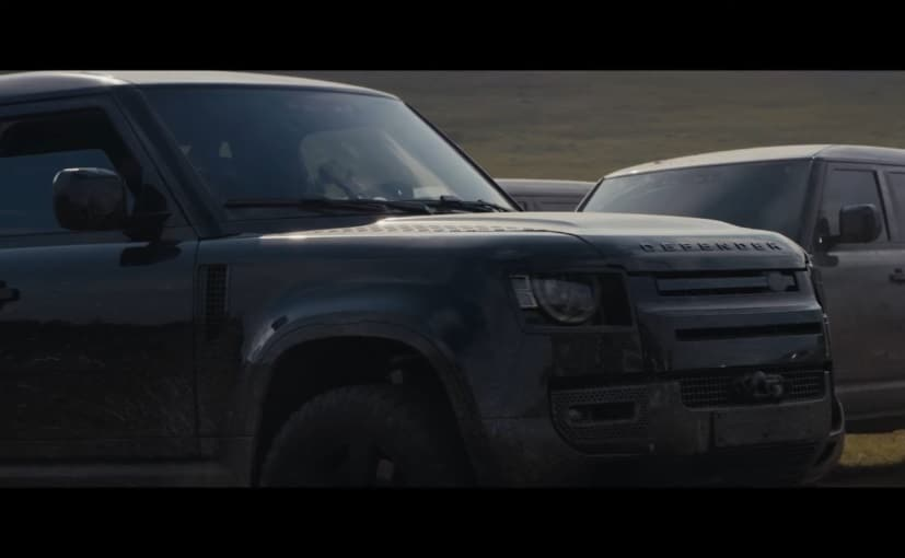 The new Land Rover Defender will be seen doing some off-road stunts in the wilderness