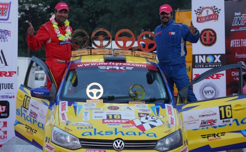 Chetan Shivram and Dr. Bikku Babu won the K-1000 rally, INRC Round 4.