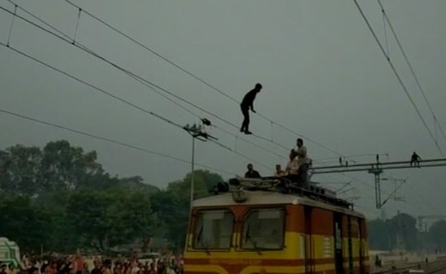 Madhya Pradesh Man Does 'Acrobatics' On Overhead Wire, Trains Delayed