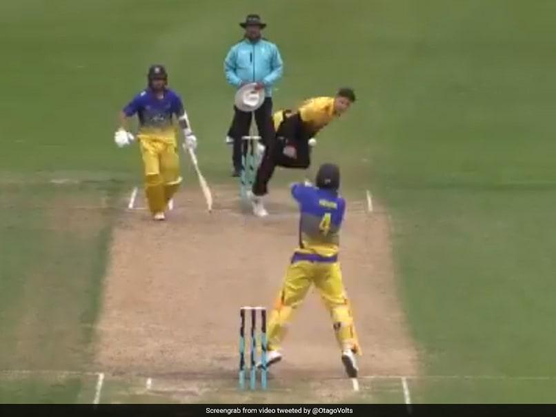 New Zealand Batsman Surprises Everyone With Unique Scoop Shot. Watch Video
