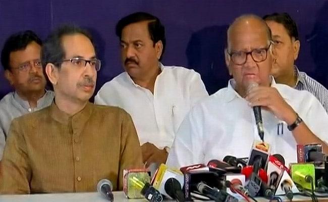 महाराष्ट्र में बीजेपी सरकार बनने के बाद NCP-शिवसेना की साझा प्रेस कांफ्रेंस, शरद पवार ने कही ये 5 बड़ी बातें