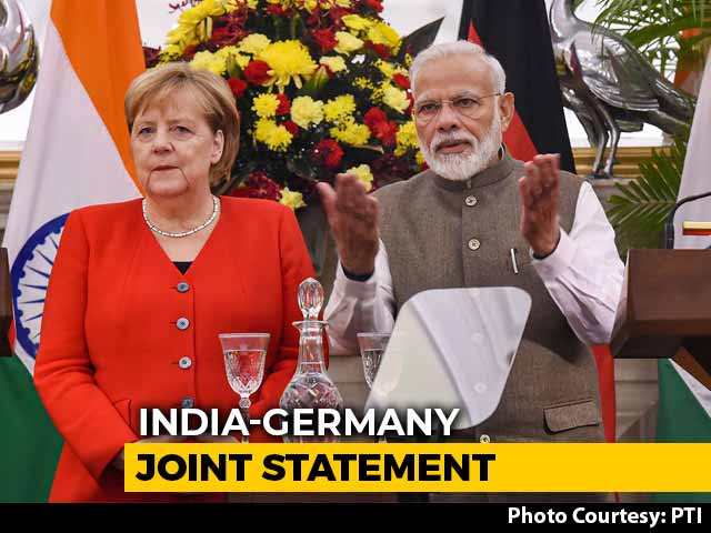 Video : Future Of India-Germany Ties Bright, Says PM In Joint Statement With Merkel