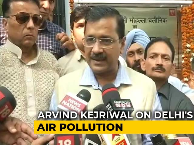"Video : ""Will Extend Odd-Even If Needed"": Arvind Kejriwal As Air Quality Dips"