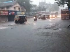Streets Flooded In Parts Of Mumbai After Heavy Rain Through The Night