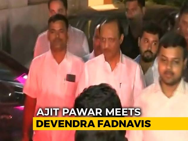 "Video : Ajit Pawar, Devendra Fadnavis Meet As Sharad Pawar Tweets ""No Alliance"""