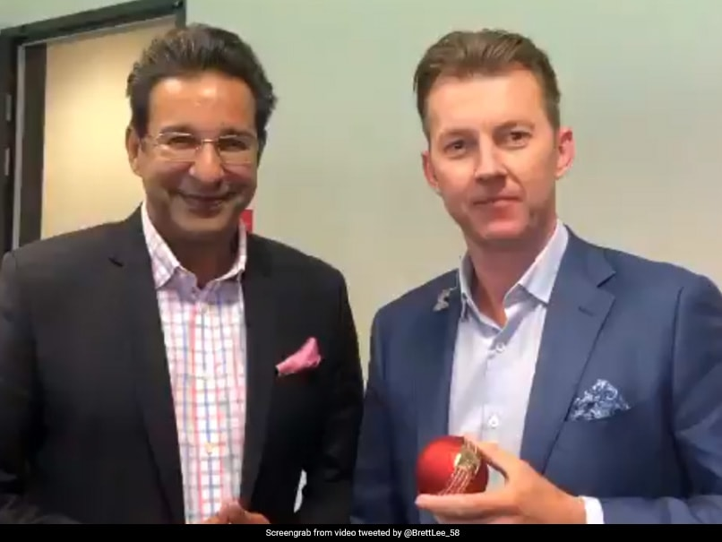 "Watch: Wasim Akram Gifts Brett Lee Special Cricket Ball, Latter Asks ""Was This Your Secret?"""