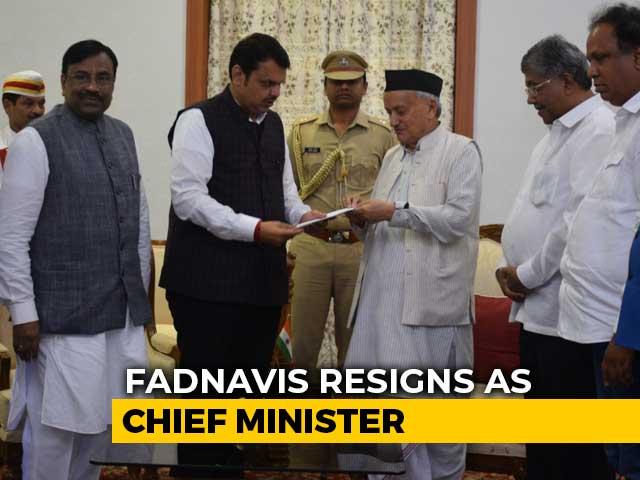 Video : Devendra Fadnavis Resigns As Maharashtra Chief Minister