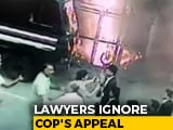 Video : Woman Officer Pleads With Folded Hands As Lawyers Charge At Cops In Video