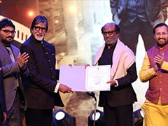 IFFI 2019: Rajinikanth Receives Icon Of Golden Jubilee Award, Felicitates Amitabh Bachchan