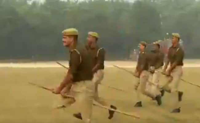 Why UP Cops Rode 'Imaginary Horses' During A Mock Drill