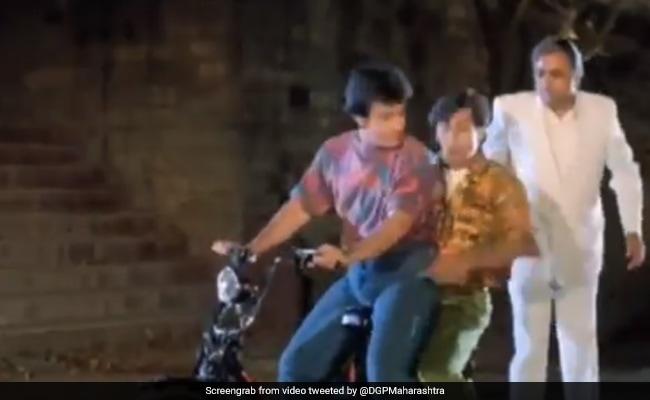 'Don't Triple-Seat': An Iconic Andaz Apna Apna Scene In Maharashtra Police's Tweet