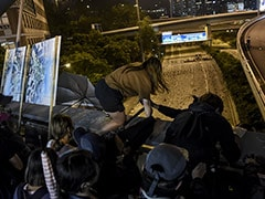 Video Shows Hong Kong Protesters' Daring Escape From University On Bikes