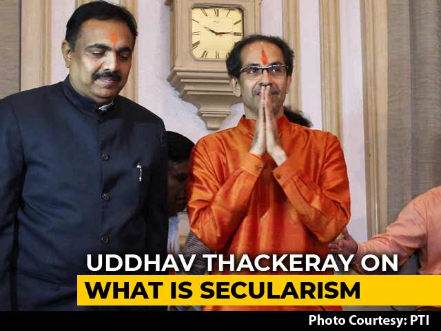 """Video : """"What Does Secular Mean?"""" Uddhav Thackeray Answers Question With Question"""