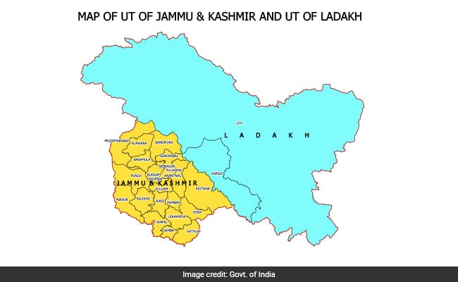 New Map Of India Shows Union Territories Of Jammu And Kashmir Ladakh