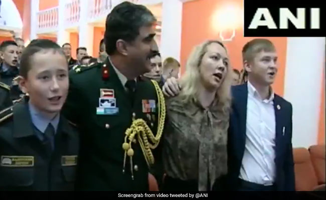 Watch: Russian Military Cadets Sing Indian Patriotic Song 'Ae Watan'