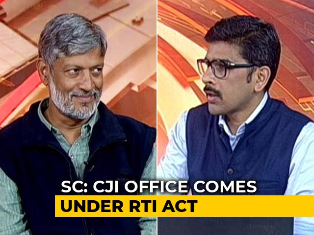 Video : Chief Justice Of India Under RTI: If CJI Can, Why Not Political Parties?