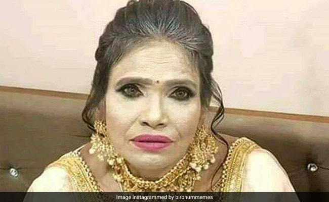 Viral: ভারী গয়না, মেকআপে সেজে Ramp-এও হাঁটলেন রাণু!