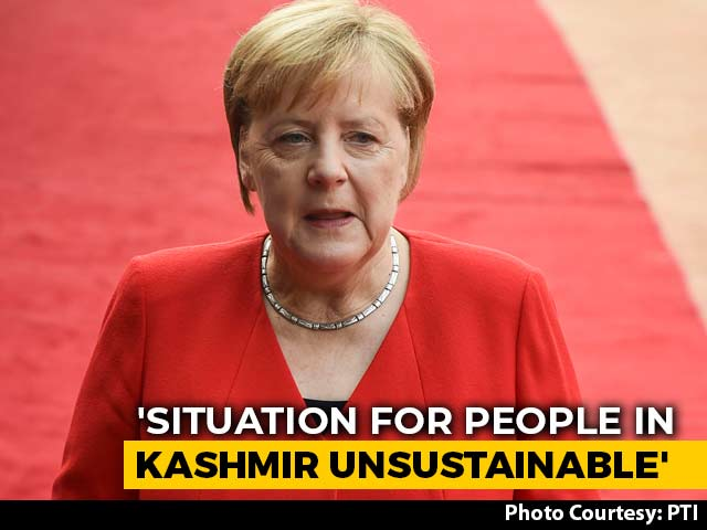 "Video : Situation In Kashmir ""Not Sustainable"", Needs To Change: Angela Merkel"