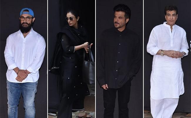 Aamir Khan, Tabu, Anil Kapoor, Jeetendra And Others Attend Shaukat Kaifi's Prayer Meet