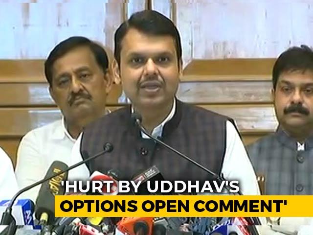 """Video : Shocked By Uddhav Thackeray's """"All Options Open"""" Talk: Devendra Fadnavis"""