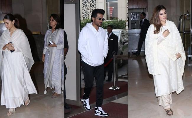Neetu Kapoor, Alia Bhatt, Anil Kapoor, Raveena Tandon And Others Attend Suraj Prakash Malhotra's Prayer Meet
