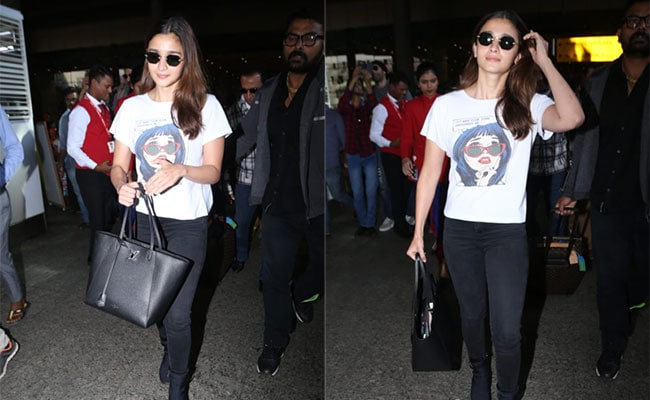 Alia Bhatt Makes Graphic Printed Tees Too Cool For School
