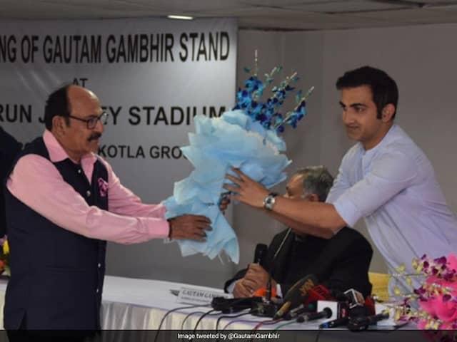 Gautam Gambhir finally has stand named after him at Arun Jaitley Stadium