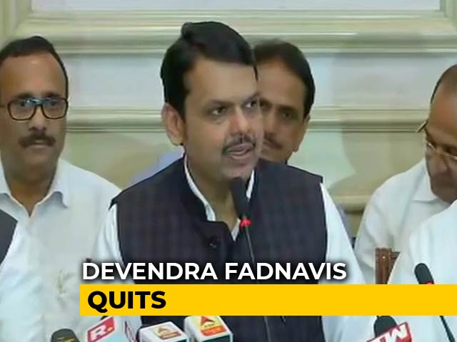 Video : Devendra Fadnavis, Chief Minister For 80 Hours, Quits